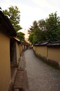 金沢の町並み 旧武家屋敷の写真素材 [FYI01239470]