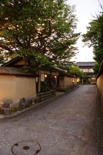 金沢の町並み 旧武家屋敷の写真素材 [FYI01239483]
