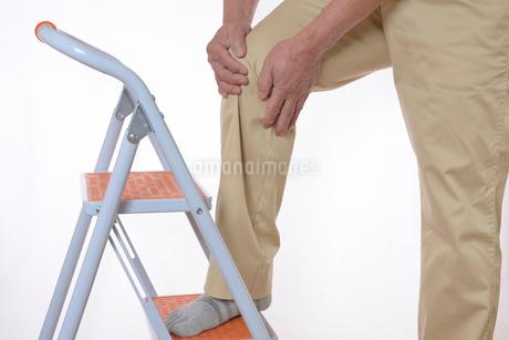 膝痛で苦しむシニアの写真素材 [FYI01239632]