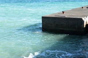 海と桟橋の写真素材 [FYI01239668]