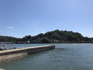 広島県尾道市 港 堤防の写真素材 [FYI01239680]