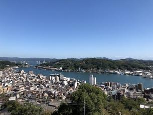広島県尾道市 展望台からの眺めの写真素材 [FYI01239681]