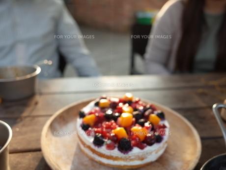 記念日のケーキの写真素材 [FYI01239687]