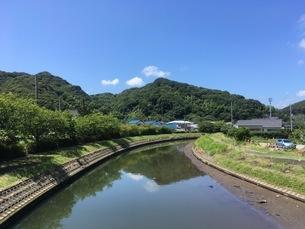 静岡県 下田市 川 風景の写真素材 [FYI01240398]