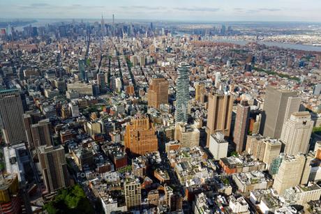 マンハッタン 俯瞰風景の写真素材 [FYI01240887]