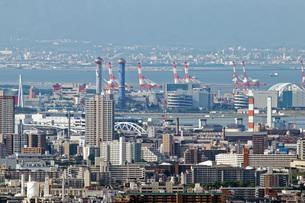 大阪南港付近の眺め 北摂五月山よりの写真素材 [FYI01240912]
