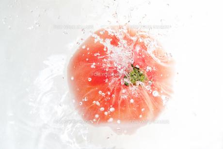 トマトと水飛沫の写真素材 [FYI01241098]