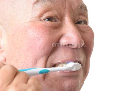 歯を磨く日本人シニアの写真素材 [FYI01241581]
