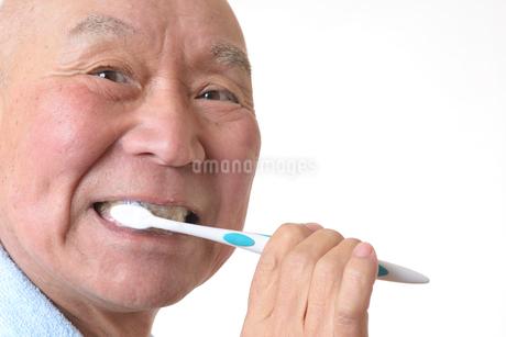 歯を磨く日本人シニアの写真素材 [FYI01241583]