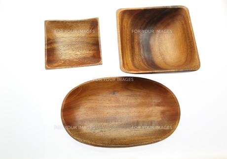 木製の食器の写真素材 [FYI01241671]