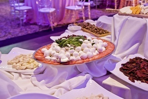 パーティー会場、イベント会場、ディナーホール、ディナー、夕食の写真素材 [FYI01241834]