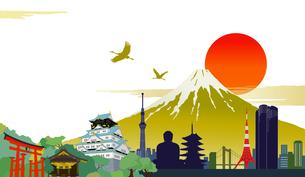 日本のシンボルのイラストのイラスト素材 [FYI01242643]