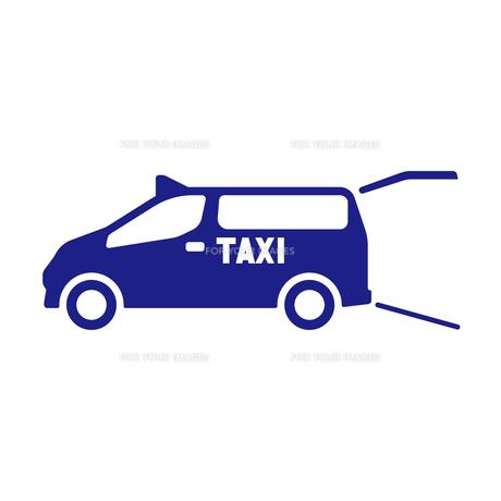 ユニバーサルデザインタクシーの写真素材 [FYI01242862]