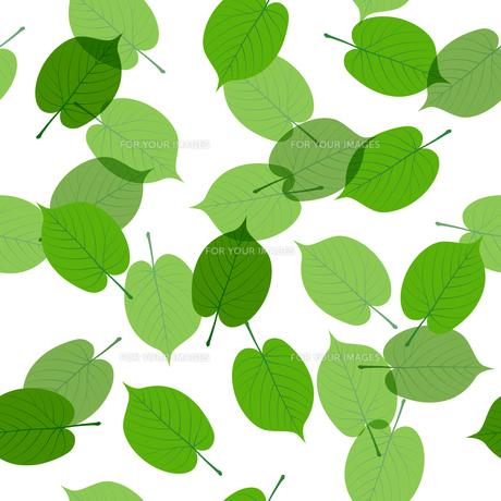 新緑の葉 シームレス背景素材のイラスト素材 [FYI01243057]