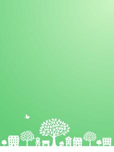 大きな木と街並みのイラスト素材 [FYI01243082]