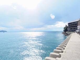 漁市場から見た鞆の浦の海の写真素材 [FYI01243270]