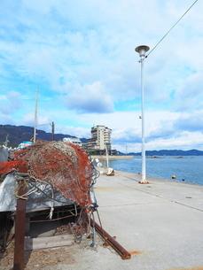 鞆の浦港の漁市場の写真素材 [FYI01243275]