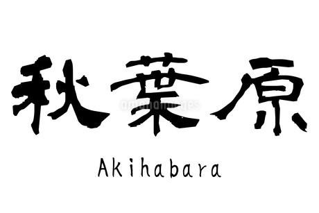 漢字「秋葉原」のイラスト素材 [FYI01243470]