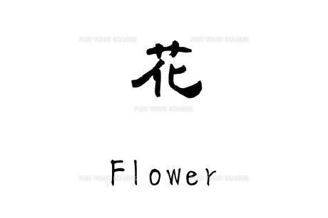 漢字「花」のイラスト素材 [FYI01243477]