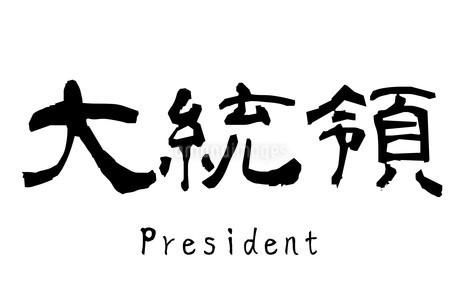 漢字「大統領」のイラスト素材 [FYI01243492]