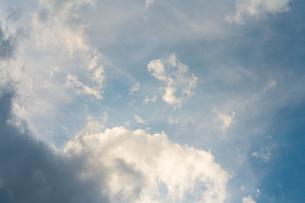 まもなく夕焼けになる青空の写真素材 [FYI01243564]