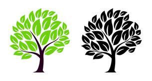 樹木のデザイン素材セットのイラスト素材 [FYI01243824]