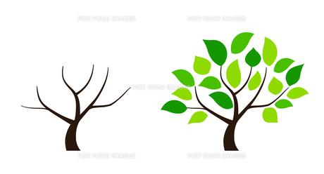 樹木のデザイン素材セットのイラスト素材 [FYI01243827]