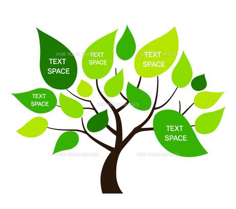 樹木のデザイン素材のイラスト素材 [FYI01243828]