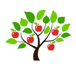 リンゴの木 デザイン素材のイラスト素材 [FYI01243829]