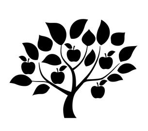 リンゴの木 デザイン素材のイラスト素材 [FYI01243830]