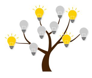 木と電球のデザイン素材のイラスト素材 [FYI01243831]