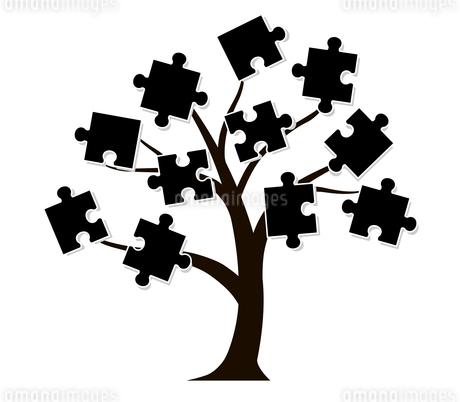 木とパズルのデザイン素材のイラスト素材 [FYI01243834]