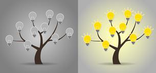 木と電球のデザイン素材のイラスト素材 [FYI01243839]