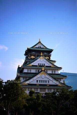 大阪城天守閣の写真素材 [FYI01244168]