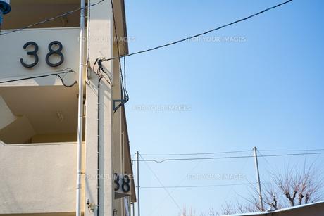 38と書かれた建物の写真素材 [FYI01244208]