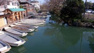 舟が集まるin福岡県柳川市の写真素材 [FYI01244519]