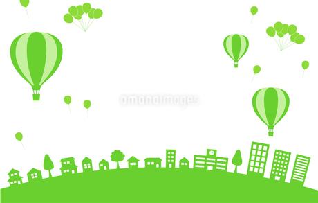 街並み 気球 風船のイラスト素材 [FYI01244616]