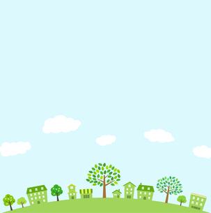 緑の街並み 背景素材のイラスト素材 [FYI01244634]