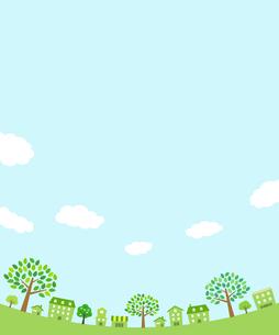 緑の街並み 背景素材のイラスト素材 [FYI01244635]