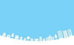 青空と街並み 背景素材のイラスト素材 [FYI01244648]