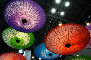 カラフルな和傘のイメージの写真素材 [FYI01244678]