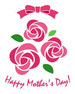 バラの飾り 母の日のイラスト素材 [FYI01244698]