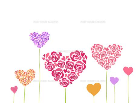 ハート形の花飾りのイラスト素材 [FYI01244705]