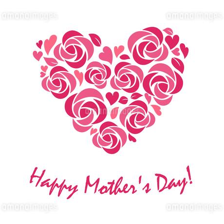 ハート形の花飾り 母の日のイラスト素材 [FYI01244708]