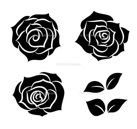 バラのシルエット素材のイラスト素材 [FYI01244710]