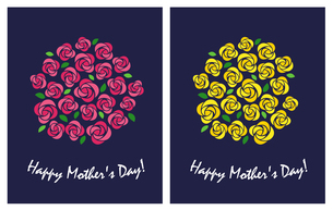 母の日 花束のイラスト素材 [FYI01244724]