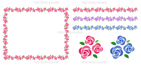 バラの花束 装飾フレームのイラスト素材 [FYI01244726]