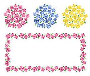 バラの花束 装飾フレームのイラスト素材 [FYI01244727]