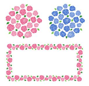 バラの花束 装飾フレームのイラスト素材 [FYI01244729]