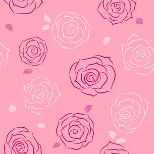 バラのシームレスパターンのイラスト素材 [FYI01244735]